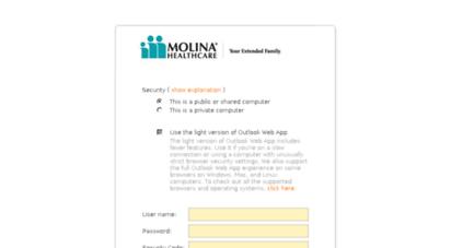 webmail.molinahealthcare.com -