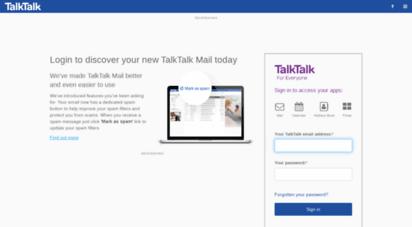 My Talktalk Webmail >> Welcome To Webmail Talktalk Co Uk