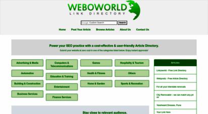 weboworld.com - weboworld - link directory
