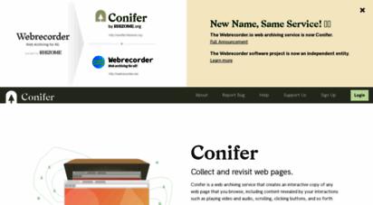 webrecorder.io - webrecorder  homepage