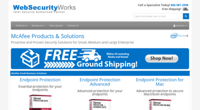websecurityworks.com - mcafee products & solutions  websecurityworks.com