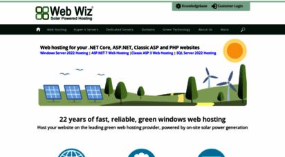 webwiz.net - green hosting, web, cloud & dedicated server hosting  web wiz