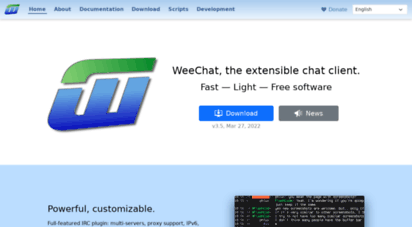 weechat.org - weechat, the extensible chat client