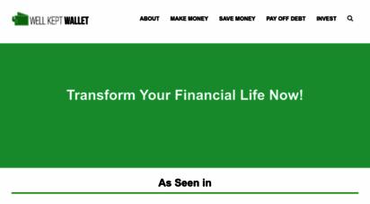 wellkeptwallet.com - well kept wallet  personal finance website