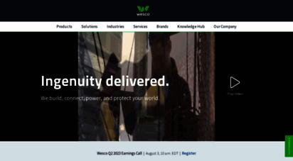wesco.com - wesco international, inc.  supply chain solutions - since 1922