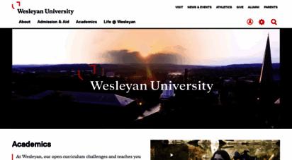 wesleyan.edu - welcome to wesleyan university - middletown, connecticut - wesleyan university