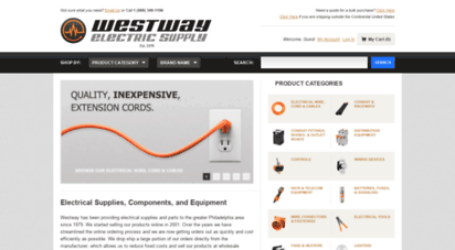 westwayelectricsupply.com - electrical supplies, components & parts  buy electric supplies online