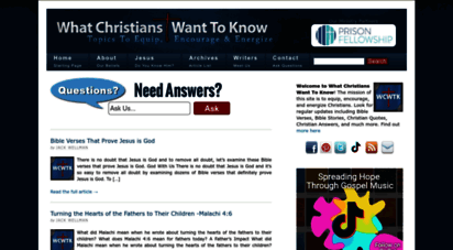 whatchristianswanttoknow.com - what christians want to know — bible verses, quotes, christian answers, songs and more