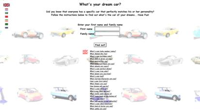 whatdreamcar.com - what´s your dream car?