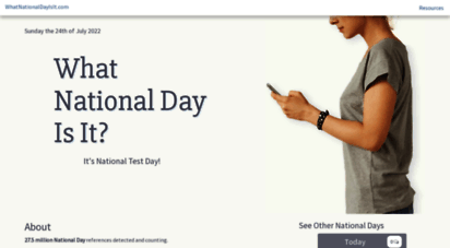 whatnationaldayisit.com - what national day is it?