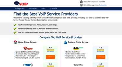 whichvoip.com - find the best voip phone service providers