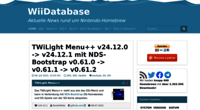 wiidatabase.de - wiidatabase  aktuelle news rund um nintendo-homebrew