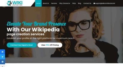 wikicontributors.net - professional wikipedia page creation and writing services, wikipedia editors, experts wikipedia page creators for hire