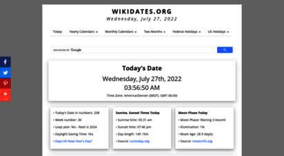 wikidates.org - today´s date  what is the date today?