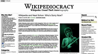 wikipediocracy.com - wikipediocracy