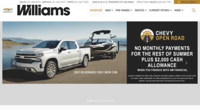 Welcome To Williamschevy Com Williams Chevrolet Inc Chevrolet Dealer In Traverse City Mi