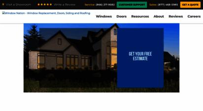 windownation.com - replacement windows  doors  vinyl siding  window nation