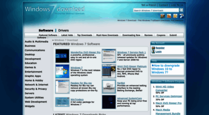 windows7download.com - windows 7 download - free windows 7 software downloads, free download