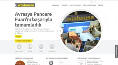 winhouse.com.tr - pvc kapı ve pencere sistemleri - winhouse