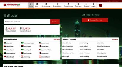 wisdomjobsgulf.com - gulf jobs - top job portal in gulf  wisdom jobs uae