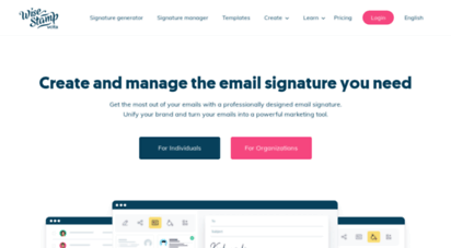 wisestamp.com - wisestamp email signatures » the best email sig for you!