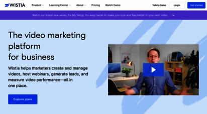 wistia.com - video marketing software for business  wistia