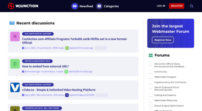 wjunction.com - wjunction - webmaster forum