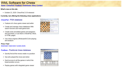 Welcome to Wmlsoftware com - WML Software for Chess