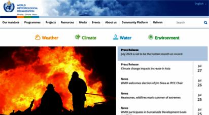 wmo.int - world meteorological organization