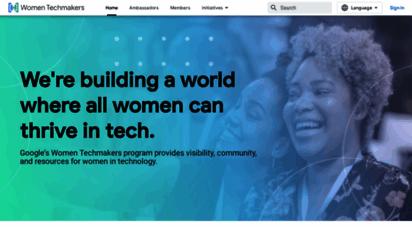 womentechmakers.com - women techmakers