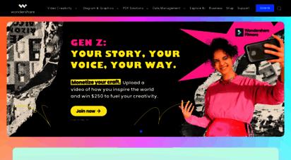 wondershare.com - wondershare software official: creativity, productivity, utility software