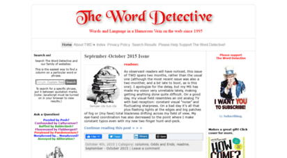 word-detective.com - the word detective