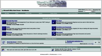 wordbanter.com - microsoft word forum - microsoft office word forum - wordbanter