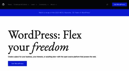 wordpress.org - blog tool, publishing platform, and cms — wordpress.org