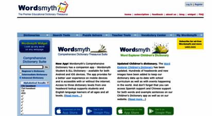wordsmyth.net - free on-line english dictionary  thesaurus  children´s, intermediate dictionary  wordsmyth