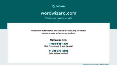 wordwizard.com - wordwizard home