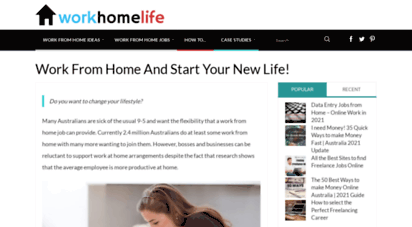 workhomelife.com.au - work from home and start your new life! - work / home / life
