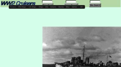 world-war.co.uk - ww2 cruisers and battleships