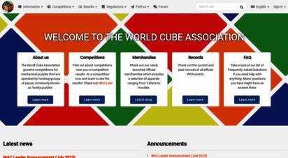 worldcubeassociation.org - world cube ssociation