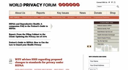 worldprivacyforum.org - world privacy forum