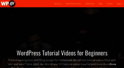 wp101.com - easy wordpress tutorial videos for beginners. learn wordpress today!