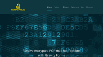 wp2pgpmail.com - gravity forms pgp encryption plugin by wp2pgpmail  a simple pgp mail encryption plugin for wordpress gravity forms by wp2pgpmail