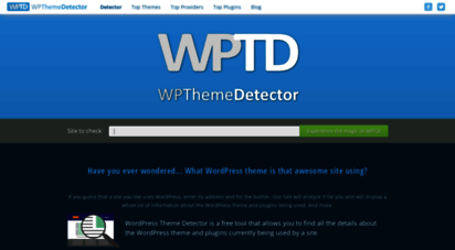 wpthemedetector.com - wordpress theme detector - free online tool to find a site´s theme