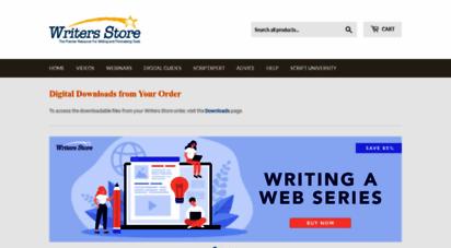 writersstore.com - screenplay, script writing & screenwriting software, books & clsss