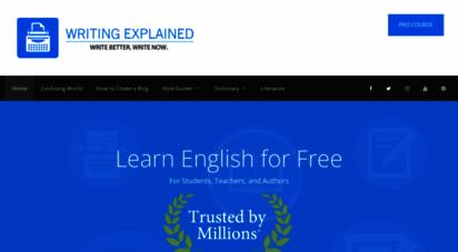 writingexplained.org - grammar, style, and usage - writing explained