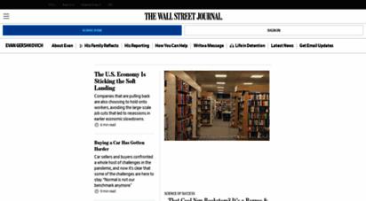 wsj.com - the wall street journal - breaking news, business, financial & economic news, world news and video