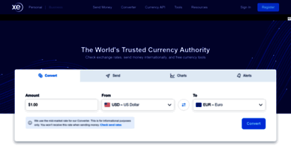 xe.com - xe - the world´s trusted currency authority: money transfers & free exchange rate tools