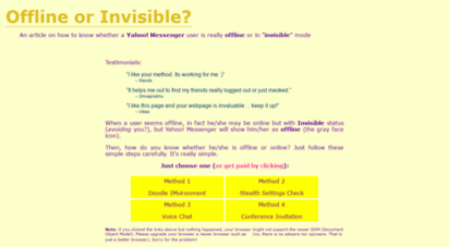 yahoo-invisible.ikitek.com - how to detect invisible users on yahoo! messenger
