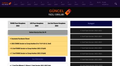 yazili-sorulari.com - güncel yazılı soruları 2020-2021