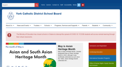 ycdsb.ca - welcome to the york catholic district school board :: 905-713-1211